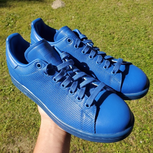 buy popular 74f05 b87c0 Adidas Stan Smith Adicolor Blue size 8.5 NWT